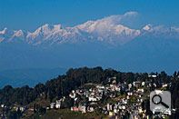 Mt. Kanchenjunga: Darjeeling town.  The Windamere, Elgin and Mayfair hotels are all recommended in Blue Guide India.