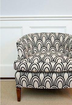 club chair: print