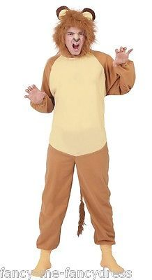 Mens #cowardly lion animal book day film #fancy dress costume #outfit size large,  View more on the LINK: http://www.zeppy.io/product/gb/2/400996708134/