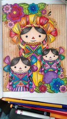 7. Muñequitas de Amealco de Querétaro #ColoreandingMéxico