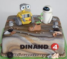 Wall E And Eve Cake Cookies Cupcakes Cupcake Cakes