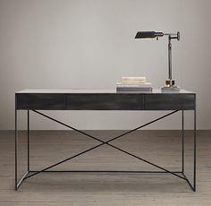 Gramercy Mirrored Desk - Restoration Hardware