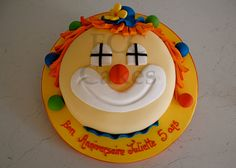 Childrens Birthday Cake Clown - Gateau D'anniversaire Pour Enfants Clown - Verjaardagstaart