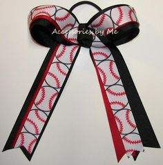 Softball Red Black Ponytail Holder Bow Softball Hair Bows, Girls Softball, Softball Stuff, Girls Basketball, Volleyball Players, Volleyball Gifts, Volleyball Drills, Volleyball Quotes, Red Hair Clips