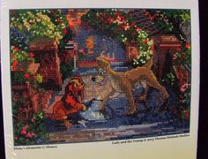 Disney Dreams Collection Lady and the Tramp Cross Stitch Kit NEW Sealed 52560 #Disney #Frame