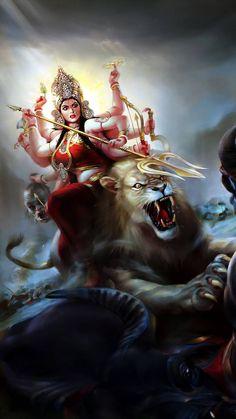 Durga wallpaper by x_tive - - Free on ZEDGE™ Maa Durga Photo, Maa Durga Image, Maa Image, Lord Durga, Durga Ji, Indian Goddess Kali, Durga Goddess, Indian Gods, Shiva Hindu