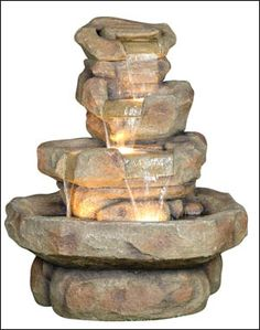 Multi Tier Large Rock Pond 1249 Decorative Water Fountain Backyard Waterfalls