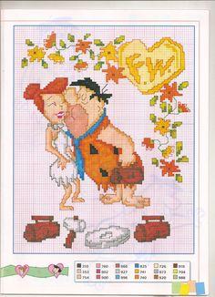 Fred Flintstone x-stitch
