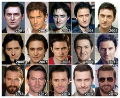 alkjira: guylty: marujovi: theonewiththevows: The Evolution of: Richard Armitage Richard you just get better and better and hotter with age, seriously you need to stop! Richard Armitage. Handsome since 2001. Fabulous timeline *giggles* 1990^ He was always a cute
