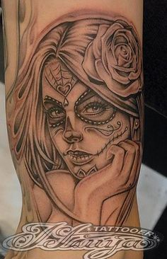 0d0ee711449b9 the dead girl more tattoo ideas tattoos art dead girls day of the dead.  Tattoomaze · Sugar Skull ...