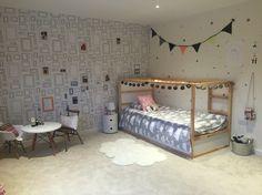 IKEA Kura bed, Graham and Brown Frames wallpaper