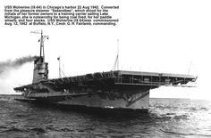 """USS Wolverine - WWII """"paddle-wheel"""" Great Lakes Aircraft Carrier"""