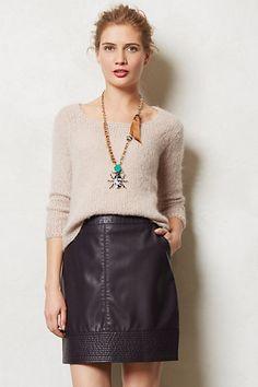 #Vegan Leather Mini #anthropologie, #skirts #veganleather #fashion