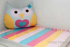 Patch Changing Pad / Owl Cushion Coordinated
