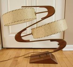 I WANT THIS!! Vintage Atomic Boomerang Mid Century Modern MAJESTIC TABLE LAMP Eames Era