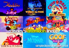 Disney channel's old great shows! Or, Toon Disney, which was my channel :)