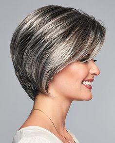 Sheer Elegance by Eva Gabor Wigs - Lace Front Wig - Best Pins Medium Bob Hairstyles, Hairstyles Haircuts, Hairstyle Short, School Hairstyles, Natural Hairstyles, Gabor Wigs, Hair Mascara, Gray Hair Highlights, Dark Hair