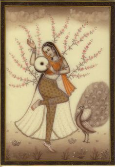Ragini-Ragamala-Painting-Indian-Rajasthan-Miniature-Handmade-Folk-Art-of-Music-190724039579