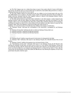 Printable Deferred Exchange As Purchase Agreement Amendment Template 2015