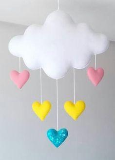Felt Crafts, Easy Crafts, Diy And Crafts, Rainbow Parties, Felt Mobile, Baby Nursery Decor, Sewing Toys, Felt Toys, Baby Toys