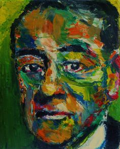 "The Face of Max Pechstein (Portrait of Max Pechstein), Oil on Canvas 10x8"", © Copyright 2011 Alan Derwin"