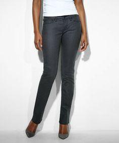 Modern Rise Demi Curve Straight Jeans - Texture Shine  - Levi's - levi.com