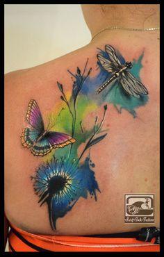 watercolour tattoo,watercolor tattoo,tattoo aquarell,aquarell tattoo,wasserfarben tattoo,Ted Bartnik,Surf-Ink-Tattoo.de