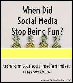 transform your social media mindset + free workbook
