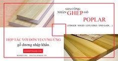 Hợp tác với đơn vị cung ứng gỗ dương nhập khẩu. Nhận gia công ghép gỗ poplar theo yêu cầu ( Finger / Solid / Live Edge / End Gain,... ) Birch, Teak