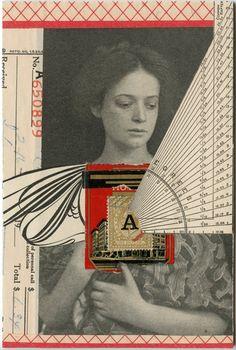Vacancy, collage by Angelica Paez. Love Collage, Collage Art Mixed Media, Collages, Photomontage, Grafik Art, Image Digital, Assemblage Art, Mail Art, Art Plastique