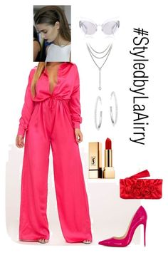 """V-Day 5"" by airis-kemp on Polyvore featuring David Yurman, Miu Miu, Adriana Orsini, Christian Louboutin, Yves Saint Laurent and Valentino"