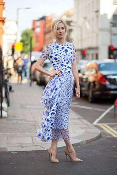 street style: London Fashion Week Spring 2015... Maxi love