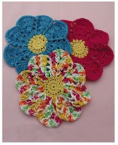 how to make a blooming flower dish cloth
