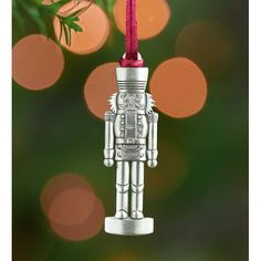 Here's a gift that really keeps giving! For each solid pewter Christmas ornament sold, a tree will be planted by the U.S. National forest foundation, who is helping them in their campaign to reforest America. Finely detailed front and back, each original, exquisite design features a satin hanging cord. The solid Nutcracker Holiday Sentiments Pewter Christmas Hanging Figurine are a delightful way to decorate your holiday packages - also makes a great hostess gift or stocking stuffer.