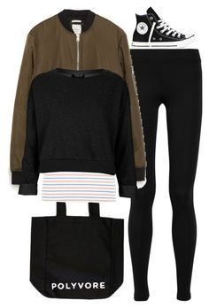 """""""OOTD - 21.04.16"""" by francesca-valentina-gagliardi ❤ liked on Polyvore featuring Vince, Converse, Zara and Topshop"""