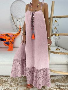 Casual Pure Colour Bare Back Loose Dress vacation wear summer vacation dresses mexico vacation outfits vacation dresses beach mexico dress travel dresses summer Casual Dress Outfits, Sexy Dresses, Fashion Dresses, Summer Dresses, Elegant Dresses, Pretty Dresses, Loose Dresses, Awesome Dresses, Beach Outfits