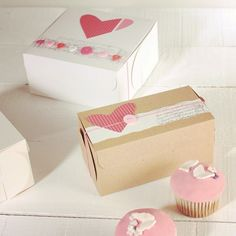 All you need today is a cupcake with love, or a pair of them... Happy sweet day! http://selfpackaging.com/2214-simple-cupcake-box-with-lid-76.html?size=2 // #cupcakes #baking #yummy #cake #cupcakeboxes