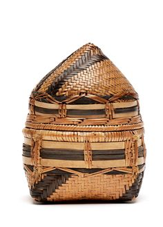 Africa | Basket from DR Congo, collected in the early 1900s | Fiber