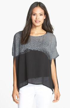 Eileen Fisher Panel Silk Crepe Boxy Top (Regular & Petite) available at #Nordstrom