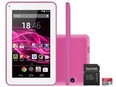 """Tablet Multilaser Supra 8GB Tela 7"""" Wi-Fi - Android 4.4 Proc. Quad Core + Cartão 16GB com as melhores condições você encontra no Magazine Siarra. Confira!"""