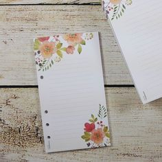 Now also available in my Etsy Store: floral notepad with 6 hole punch fitting filofax Personal or without   #notepad #notepads #stationery #filofax #filofaxpersonal #etsy #stationeryaddict #stationerylovers #stationary #planner #plannerinspiration #planneraddict #filofaxlover #filofaxlove #filofaxing #filofaxinserts #calendarinserts #kalender #Kalendereinlagen #dawanda by juniqpaperworks
