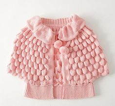 Buy Wholesale Autumn Fashion Solid Color Pom-trim Ruffle Knitted Cardigan from china wholesale , High-quality affordable prices shipping worldwide Cheap Baby Clothes, Knitted Baby Clothes, Baby Outfits, Kids Outfits, Handgemachtes Baby, Kids Poncho, Children's Poncho, Baby Cardigan, Baby Sweaters