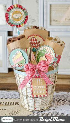 Carta Bella Homemade With Love Gift Basket! Trendy Twine
