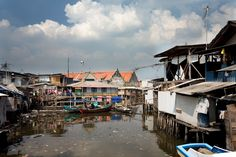 Waterfront homes, Jakarta, Indonesia.
