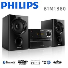 PHILIPS 飛利浦CD.藍芽.USB音響組 BTM1360