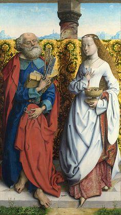 Saints Peter And Dorothy  Master of the Saint Bartholomew Altarpiece