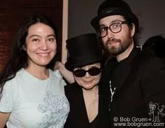 Sean with his half sister Kyoko  (Yoko's daughter)  and their mom