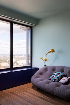 <p>Ukrainian young family hired architectural team Special Project Venediktov to renovate their new home in a one of the highest buildings of Kiev. Through large windows and open-plan areas, the inter