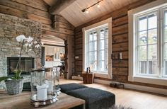 New Raw Wood Interior Colour Ideas Cabin Interiors, Wood Interiors, Cabin Homes, Log Homes, Cabins And Cottages, Home And Deco, Interior Exterior, Design Case, Cozy House