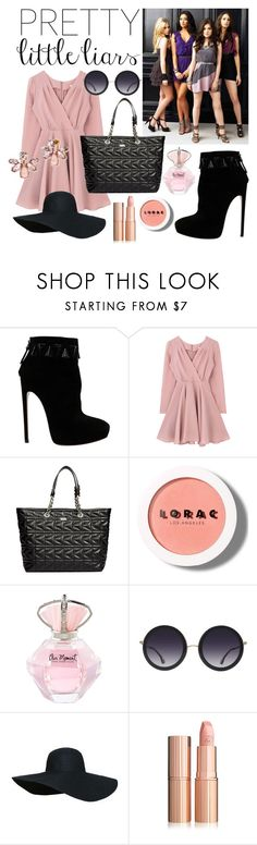 """""""pretty little liars inspired"""" by pianogirl7890 ❤ liked on Polyvore featuring Alaïa, Karl Lagerfeld, LORAC, Alice + Olivia and Marchesa"""